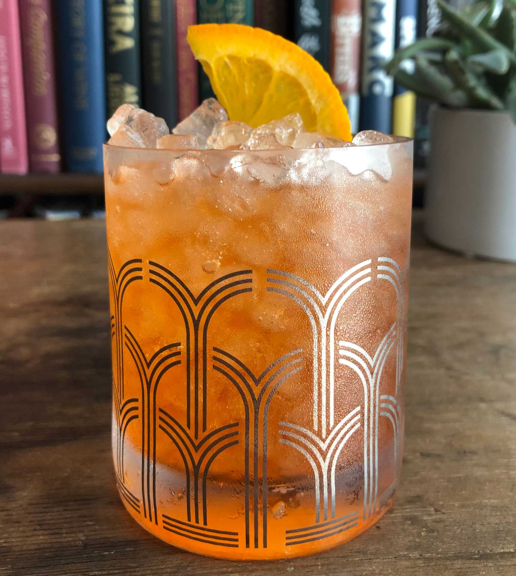 An example of the The Spritz, the mixed drink (cocktail) featuring soda water, Aperitivo Cappelletti, and sparkling wine; photo by Lee Edwards