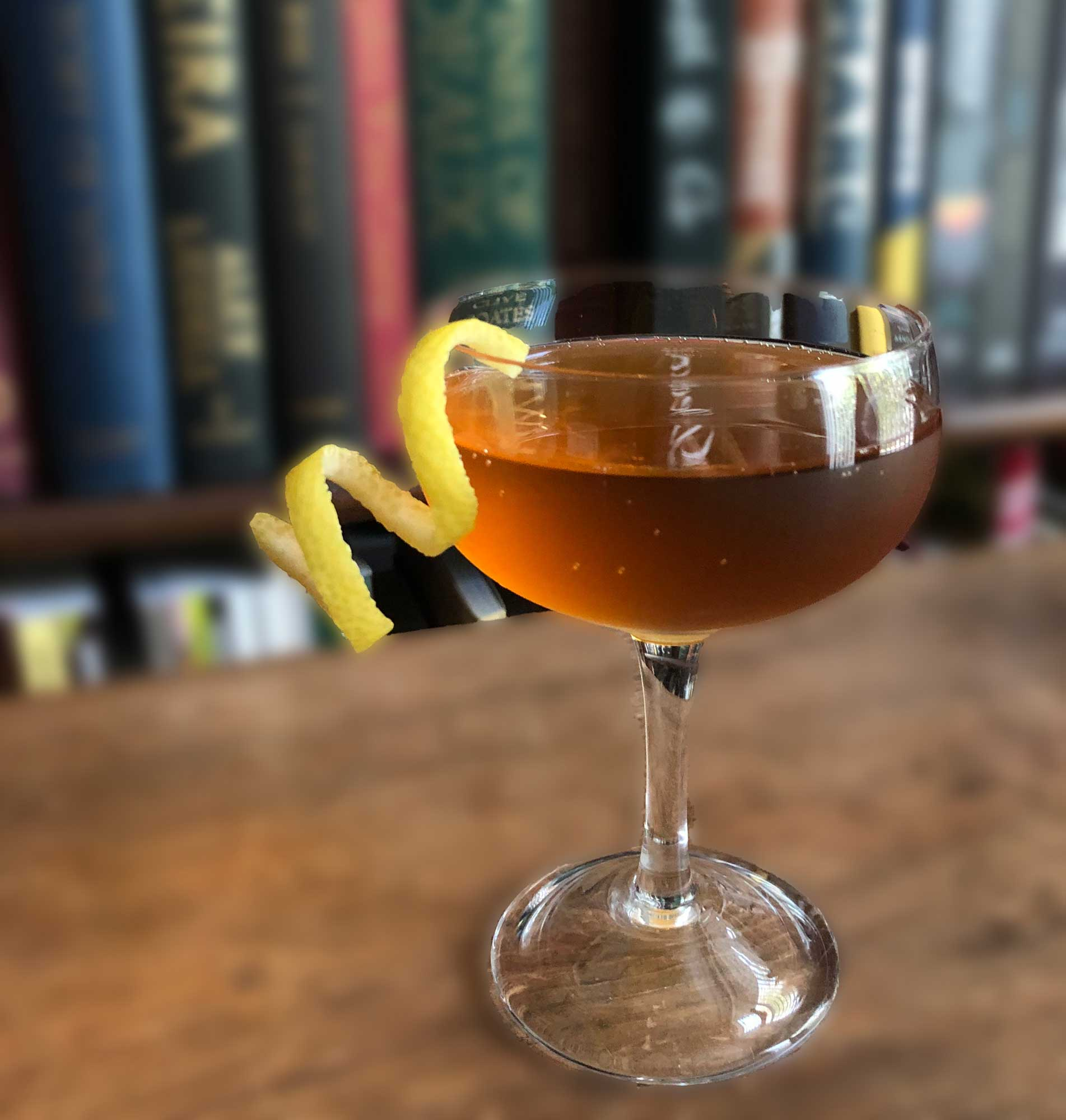 An example of the Familia Cocktail, the mixed drink (cocktail) featuring Cocchi Asti DOCG or sparkling wine, and Cardamaro Vino Amaro; photo by Lee Edwards