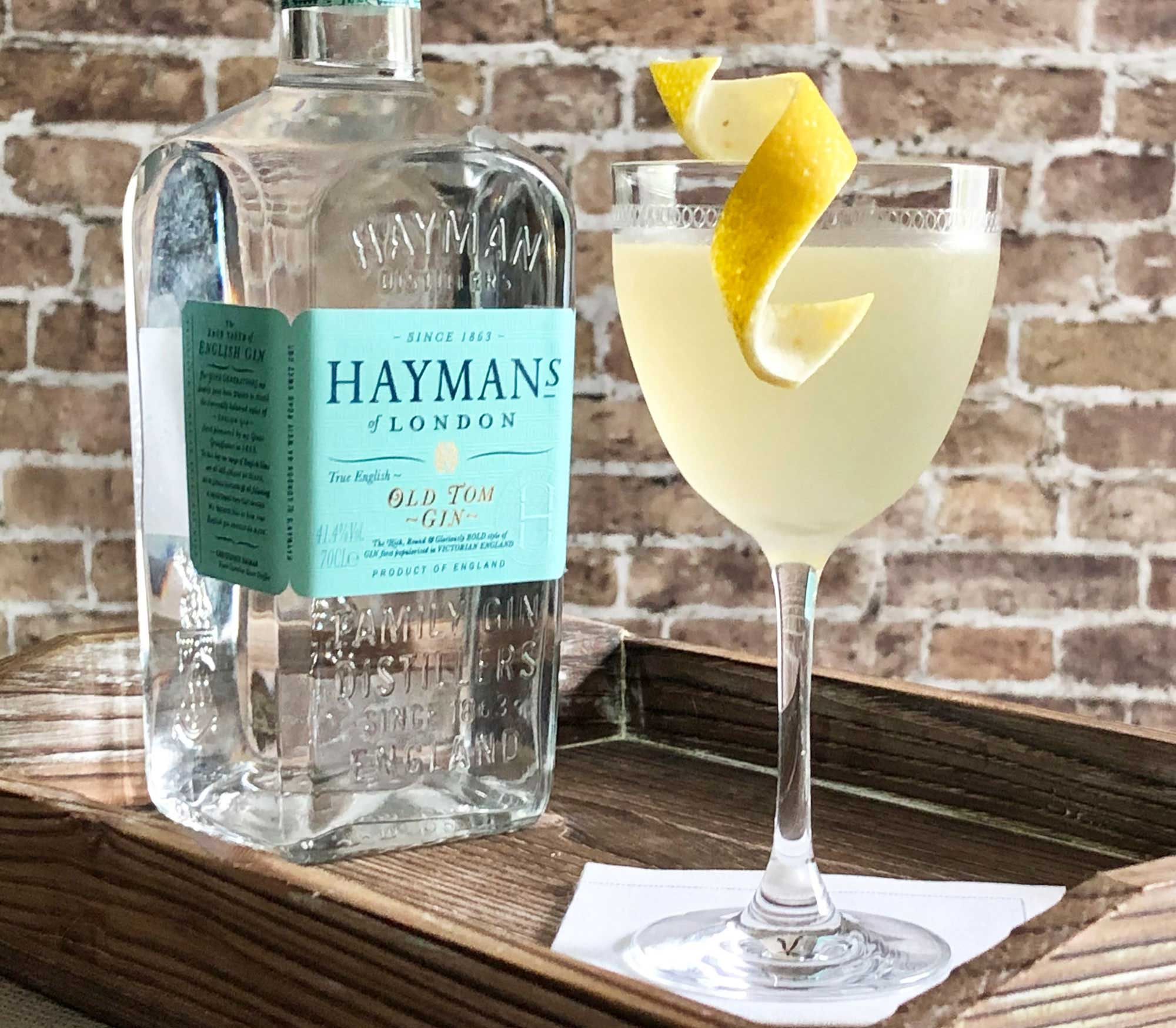 An example of the Resolute, the mixed drink (cocktail), by Savoy Cocktail Book, featuring Hayman's Old Tom Gin, Rothman & Winter Orchard Apricot Liqueur, lemon juice, and simple syrup; photo by Lee Edwards