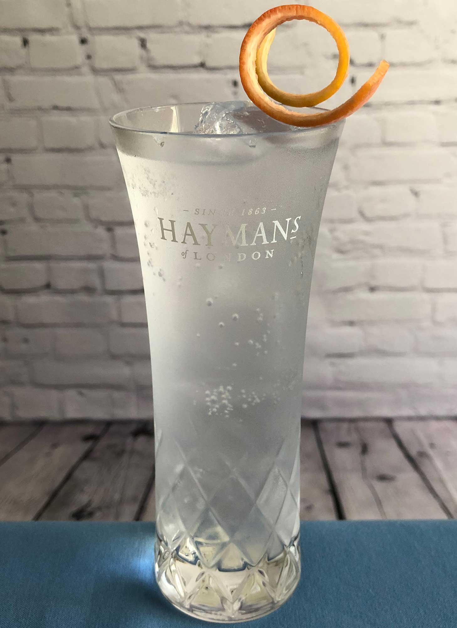 An example of the Royal Gin & Tonic, the mixed drink (cocktail) featuring Fever Tree Indian Tonic Water, and Hayman's Royal Dock Navy Strength Gin; photo by Lee Edwards