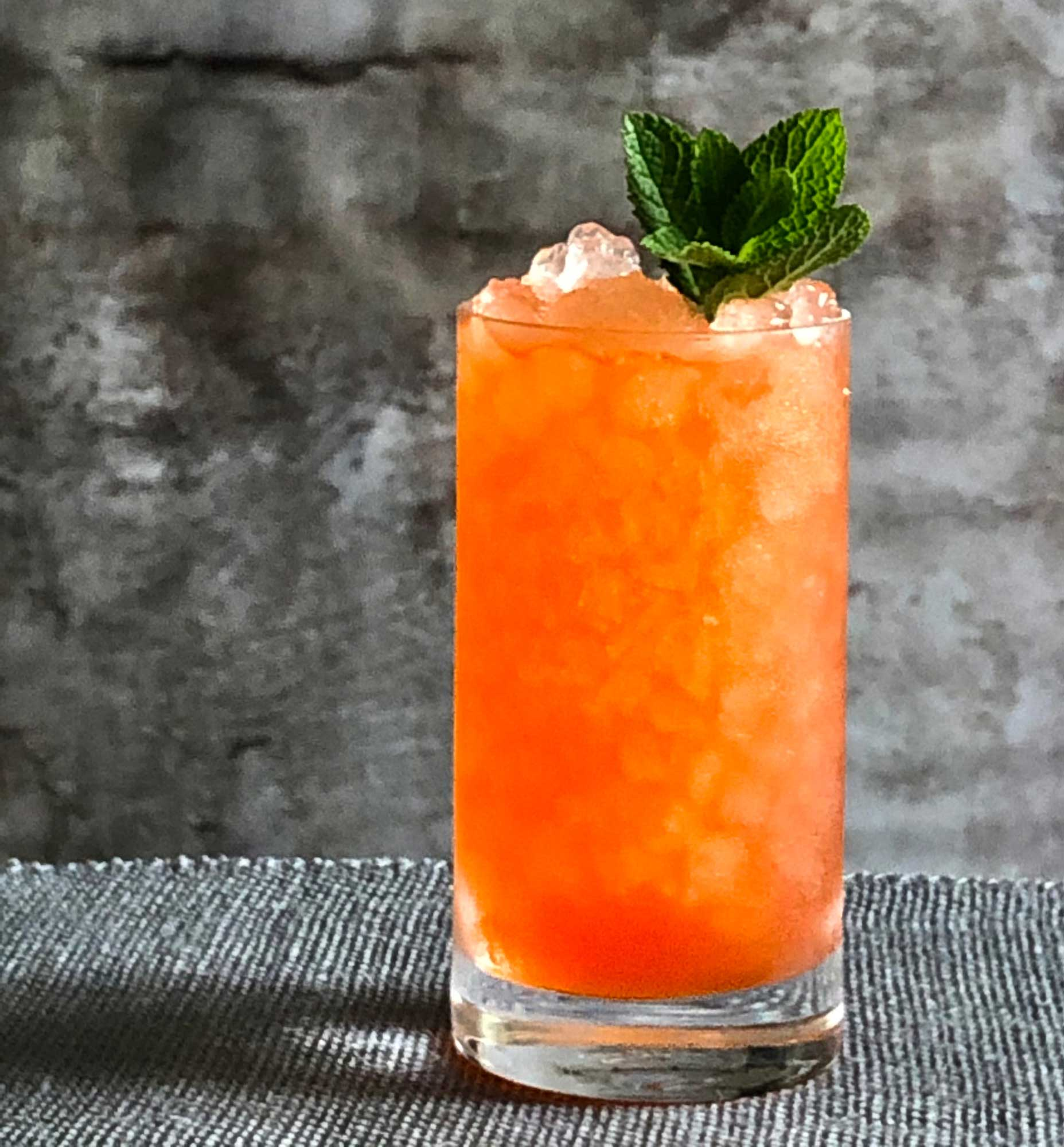 An example of the Cappelletti Smash, the mixed drink (smash), by Sean Sullivan, Straight Law, Boston, featuring Aperitivo Cappelletti; photo by Lee Edwards